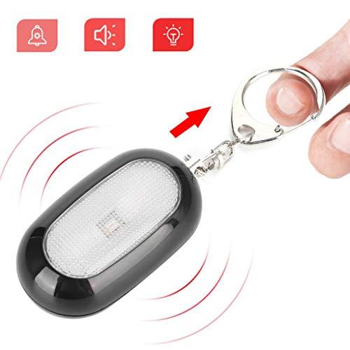 ZQQ Alarma Personal, Alarma De Seguridad 125DB con Llavero Silbato De Supervivencia con Luz LED para Autodefensa De Emergencia Femenina, Ancianos Y Niños,Negro