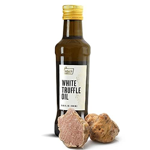 Lieber's White Truffle Oil | Premium Truffle Oil for Cooking, Salad Dressing, Garnish | This White Truffle In Oil Is Kosher For Passover, Vegan, Vegetarian & Gluten Free | 8.45 Fl Oz Glass Bottle