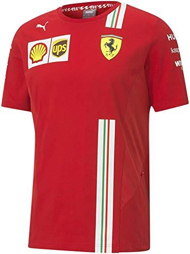 Camiseta infantil Ferrari Scuderia Team Motorsport F1 oficial Fórmula 1 Collection rojo 9-10 años