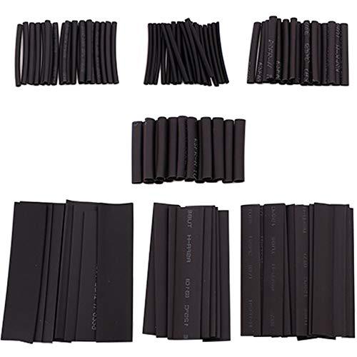 Schrumpfschlauch Set, DAFROH 127 teiliges Schrumpfschläuche, Zum Schutz von Kabeln, schwarz in 7 Größen