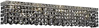 Chantal Chrome Contemporary 8-Light Vanity Fixture Heirloom Handcut Crystal in Silver Shade (Grey)-1729W36C-SS-RC--36