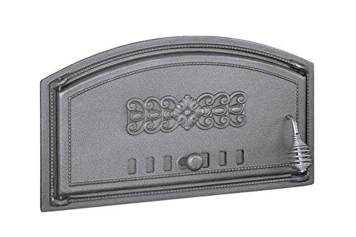 Backofentür Ofentür Pizzaofentür Holzbackofentür Steinbackofentür aus Gusseisen | Außenmaße: 490x280 mm | Öffnungsrichtung: links