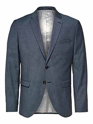 SELECTED HOMME Male Blazer Slim Fit 48Light Blue