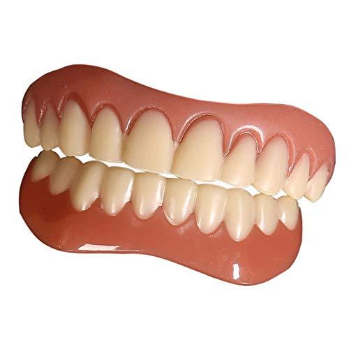 Denture Silicone Fake Teeth Cover Upper Lower False Tooth Dental Veneers Teeth Dentures 5Pcs
