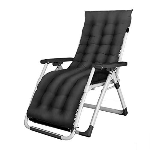 Qinmo Sillón reclinable, sillas de gravedad cero con la silla del ocio del algodón del cojín extraíble suave 200kg soportan peso Sillas plegables piscina portátil balcón Salón Playa Ensanchamiento tra