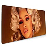Cardi B Cool Printing Anti-Skid Game Office Mouse Pad 15.8x35.5 in
