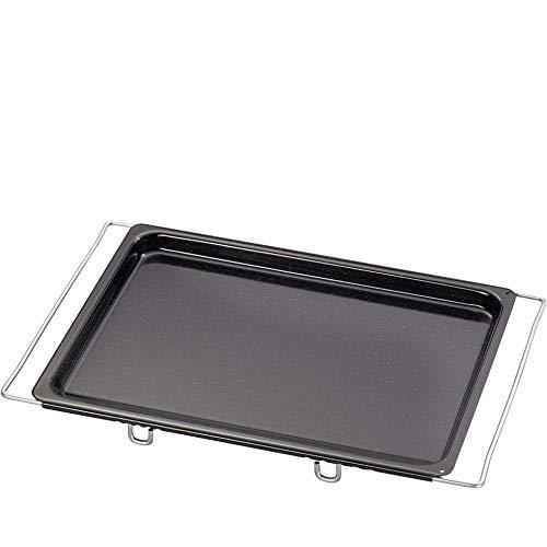 Riess, 0403-022, Backblech Multiflex, CLASSIC - BACKFORMEN, Maße 41-5 x 33 cm, Höhe 2,8 cm, Emaille, schwarz, verstellbar