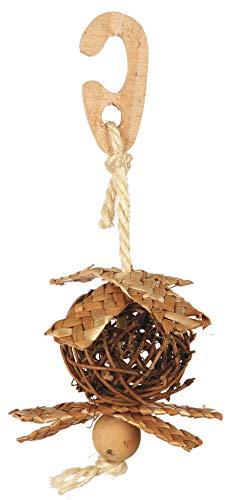 Trixie - Weidenball am Seil mit Nistmaterial, ø 5,5 cm