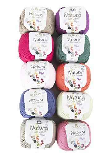 10 Skein DMC Natura Just Cotton Yarn, Assorted Colors Yarn Version 2