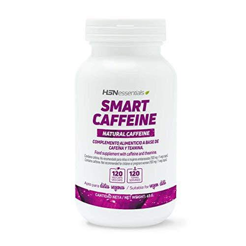 Nootrópico Natural de HSN | Cafeína Inteligente (Smart Caffeine) | Con Teanina | Suplemento para la Máxima Concentración + Ayuda a Estudiar | Vegano, Sin Gluten, Sin Lactosa, 120 Cápsulas Vegetales