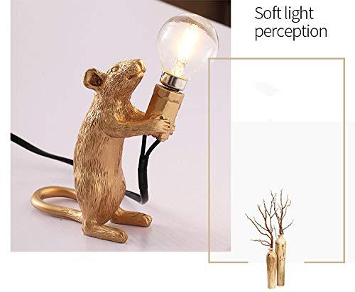 Moderne Maus Ratte Lampe gemalt Ratte Design Tischlampe Harz Ratte Maus Lampe LED Augenschutz Dekoration Tier Schreibtisch Lampen Home Decor Schreibtisch Lichter schwarz weiß Gold