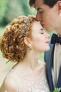 FXmimior - Accessorio per capelli da sposa, in argento con cristalli, accessorio per capelli da sposa, accessorio da sposa...