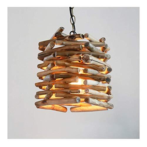 Kroonluchter voor binnen, plafondlamp, kroonluchter van hout, met takken, kroonluchter
