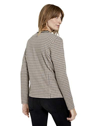 TOM TAILOR Damen Blazer & Sakko Karierter Jersey-Blazer Camel small Check,M,24612,8000
