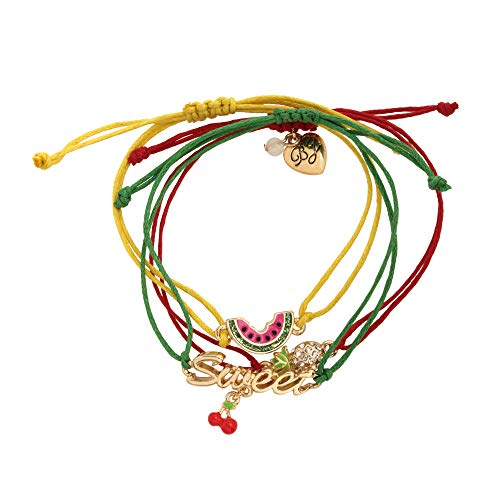 Betsey Johnson Mixed Fruit Friendship Bracelet Set