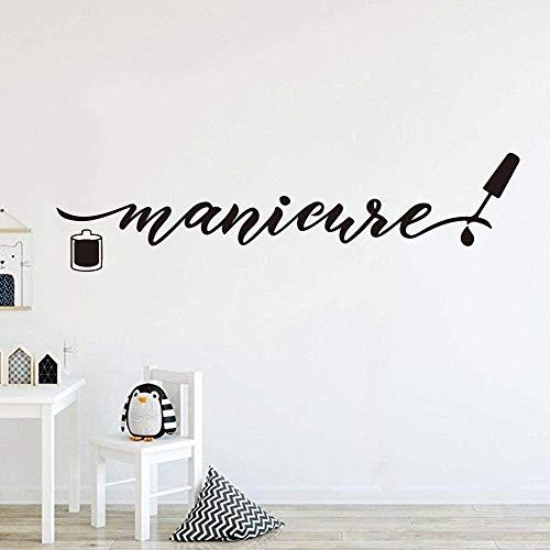 Grand salon de manucure logo de manucure autocollant mural polonais manucure mot pédicure polonais beauté salon de manucure studio sticker mural décoration vinyle84x21cm
