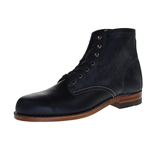 WOLVERINE Unisex 1000 Mile Fashion Boot, Black Leather, 13 US Men