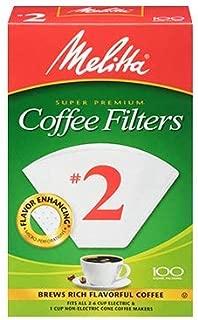 Melitta #2 Super Premium Cone Coffee Filters, White, 100 Count (Pack of 12)