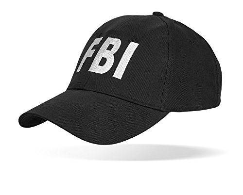Black Snake SWAT FBI Security Police Baseballcap größenverstellbar durch Clipverschluss FBI OneSize