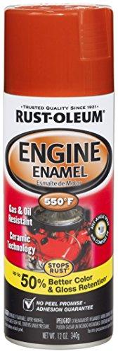 Rust-Oleum 272019 Chevy Red Orange Ceramic Engine Enamel Spray Paint - 12 oz.