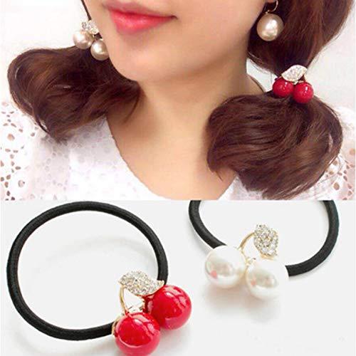 1 stks kristal touw cherry haaraccessoires kleine express bal fruit haarbanden