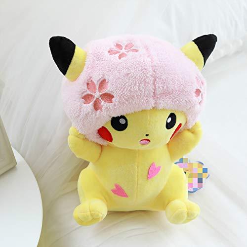 Juguete de Peluche Cherry Blossom Pikachu Doll Plush Toy Cute Cute Stuffed Anime Pikachu Plush Toy Niños