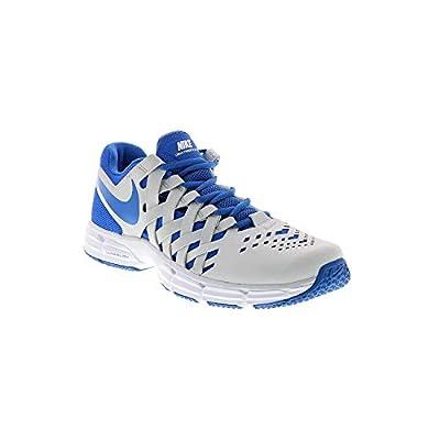 Nike Men's Lunar Fingertrap Training Shoe, Platinum/Hyper Cobalt Size 11.5 M(D) US (11.5)