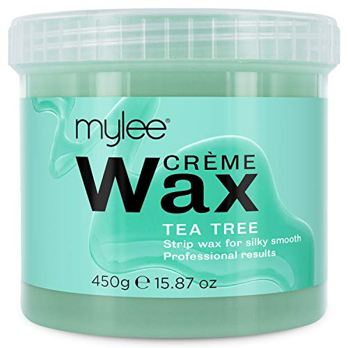 Mylee Teebaumwachs für empfindliche Haut für Salons, professionelle Ganzkörper-Haarentfernung mit Wachs (450g) (Teebaumwachs)