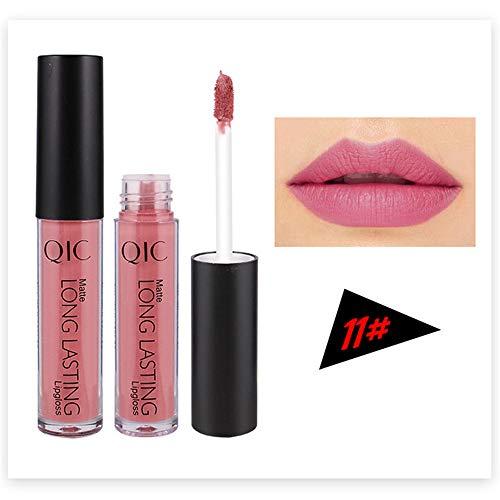 XCBCVHG Rouge à lèvres Liquide Mat, Matte Brillant à Lèvres Liquid Lipstick Makeup Rouge-à-lèvres Longue Tenue Waterproof Plumper Maquillage à Lèvres
