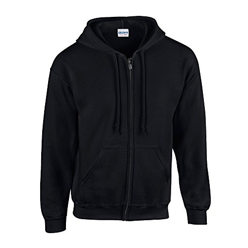 Gildan - Kapuzen-Sweatjacke \'Heavyweight Full Zip\' / Black, 3XL