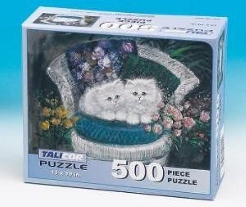 de moda Talicor Sherwood Kitten Kitten Kitten Duet 500 Piece Jigsaw Puzzle by TaliCor  gran selección y entrega rápida