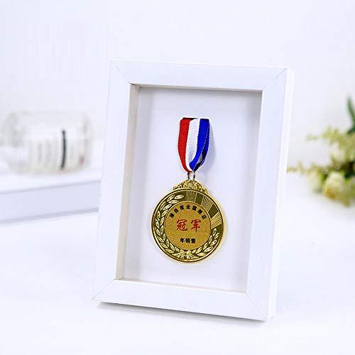 Medaillenständer 3D-Fotorahmen Medaillenaufbewahrungsständer Marathon-Medaillenständer-A_white_10_inch