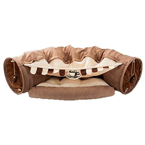 Vudifo Túneles de Gato para Cama de Interior para Gatos de Interior Tubo de túnel para Mascotas Juguetes para Mascotas Tienda de Juegos para Perros Plegable Juguete Interactivo Laberinto Perro