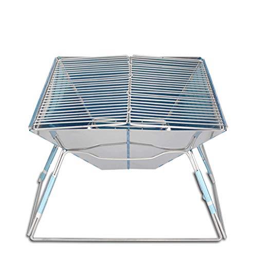 HuiHang Draagbaar, buitentuin, verstelbare BBQ houtskool grill reizen barbecue tafel grill picknick camping barbecue