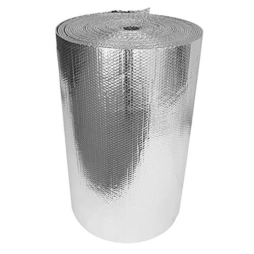 FRJKF Isolamento del Tetto Autoadesivo Rivestimento Isolante Termoriflettente per Tetti Pareti Pavimenti per Radiatore Lamina Termoriflettente Isolamento Termico Termosifoni(Size:1x10m 3.2x32.8ft)