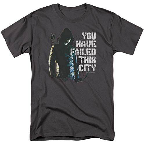Arrow TV Show You Have Failed This City T Shirt & Stickers (Large) Charcoal