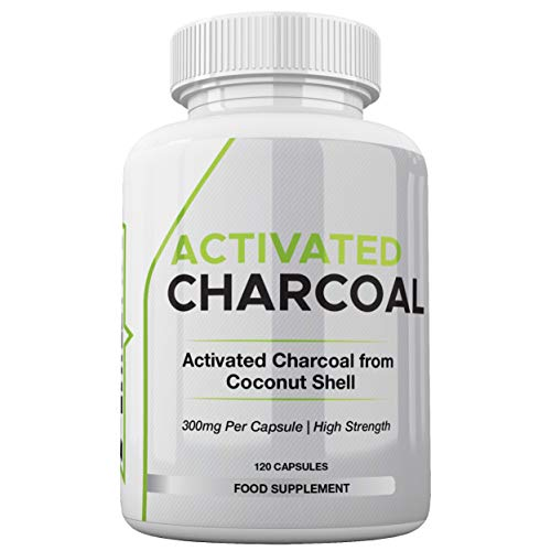 Activated Charcoal 300mg by Freak Athletics 120 Capsules - High Strength Activated Charcoal Made in The UK - Suitable for Both Men & Women