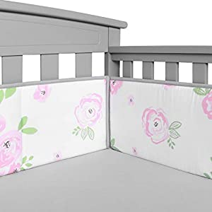 TILLYOU Crib Liner Protector, 4 Pieces
