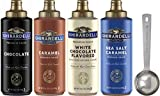 Ghirardelli - Caramel, Chocolate, White Chocolate and Sea Salt Caramel Flavored Sauce (Set of 4) - with Limited Edition Measuring Spoon