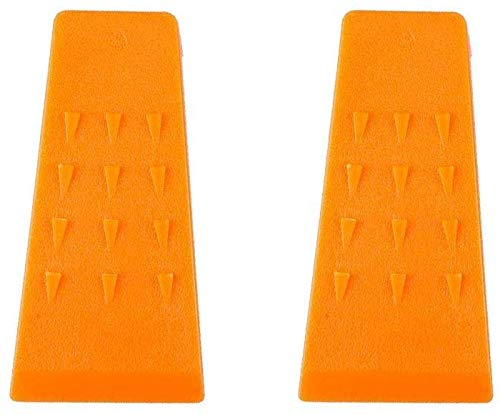 Poweka Cuñas de Tala para Motosierra 13,97cm, Cuña de Corte de Árbol de Plástico ABS (2 Piezas)