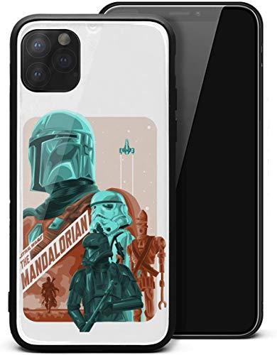 Carcasa rígida para iPhone 11 Pro The-Mandalorian-Poster-Design- Unisex Protector de vidrio templado negro antiarañazos, protector de golpes
