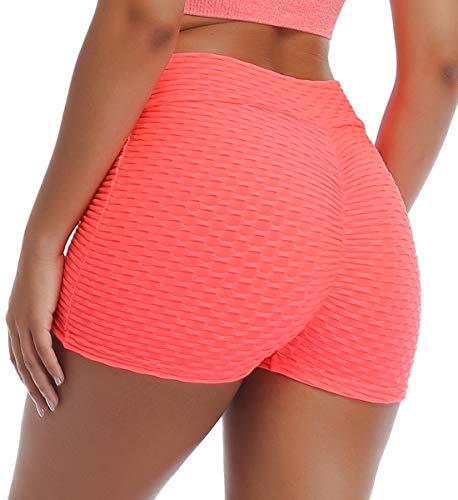 SLIMBELLE® Femme Short de Yoga Sport Anti-Cellulite Legging Court Pantalon de Yoga Taille Haute Remonte Fesse Sexy pour Été