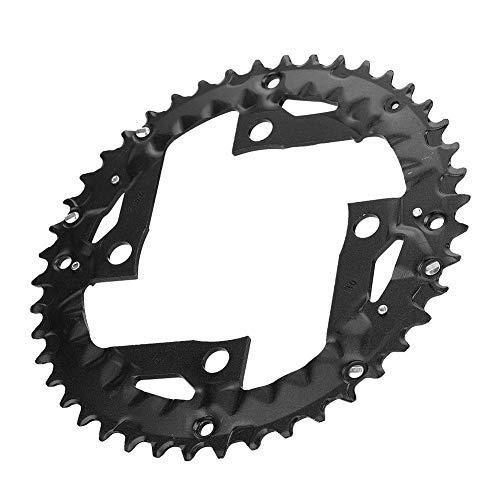 Plato de Bicicleta BCD 104 mm 44T 9v, Plato Redondo de Aleación de Aluminio