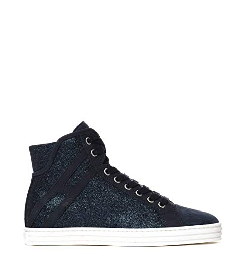 HOGAN REBEL Luxury Fashion Womens HI TOP Sneakers Summer Blue