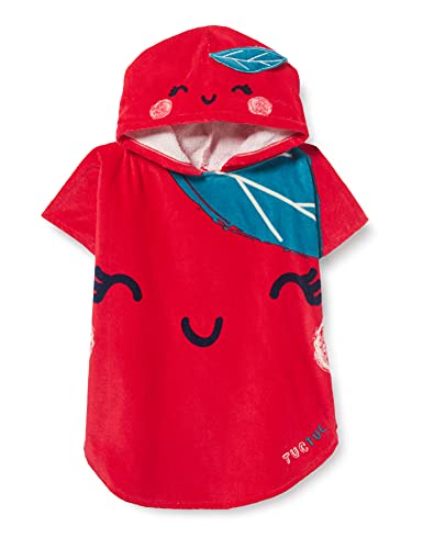 Tuc Tuc Poncho Detox Time Salida de baño, Rojo, U para Niñas
