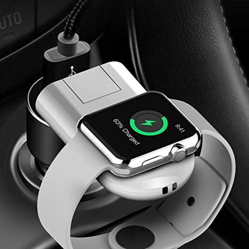 Bysionics for Apple Watch Wireless Charger, Wireless Charger and Wireless Magnetic Charging Dock Holder USB Charging Compatible for Apple Watch Series 4/3/2/1 White