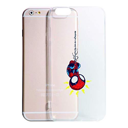 Social Crazy Cover iPhone XS - XR - XS Max -8-8 Plus - X - 6-6 Plus - 6S - 6S Plus - 7-7 Plus - 11-11 PRO - 11 PRO Max Supereroe Ragno Trasparente Antiurto