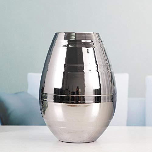 Vase Hauptschrank Esstisch Wohnzimmer Dekoration Möbel Licht Hause Weiche Verarbeitung Kunst Silber Vase 17Cmx24Cm