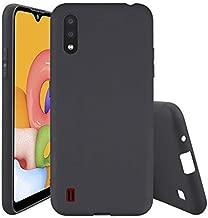 Samsung Galaxy A01 Case Cover Back Slim Flexible Soft TPU Cover Case for Samsung Galaxy A01 (BLACK) by Nice.Store.UAE