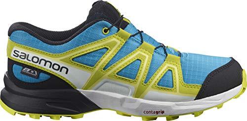 Salomon Speedcross Climasalomon™ Waterproof (impermeable) Junior niños Zapatos de trail running, Azul (Hawaiian Ocean/Evening Primrose/Charlock), 34 EU
